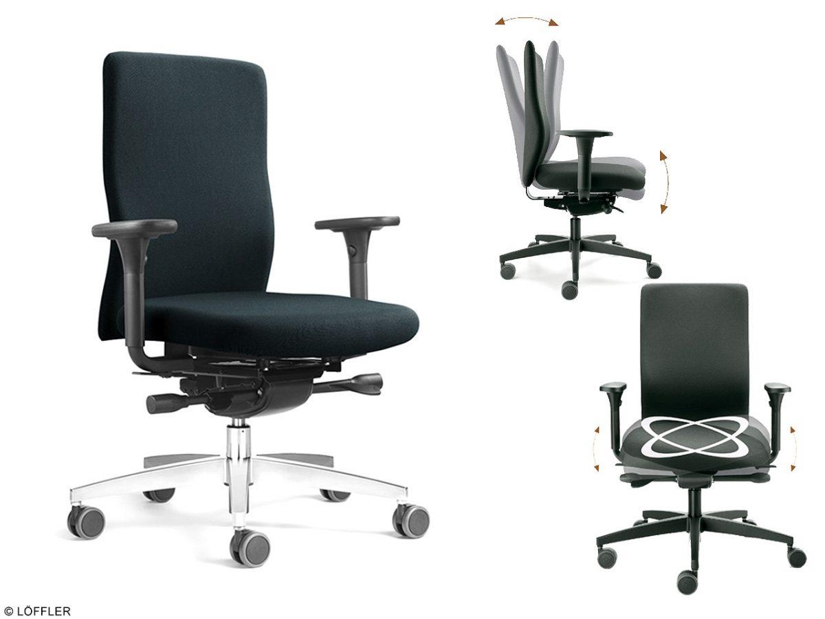 Bewegtes Sitzen mit Büro Stiegler